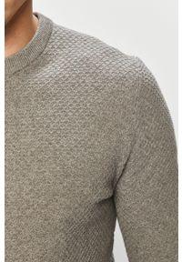 Only & Sons - Sweter. Okazja: na co dzień. Kolor: szary. Materiał: dzianina. Styl: casual #3