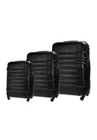 Solier - Zestaw walizek podróżnych STL838 czarny. Kolor: czarny. Materiał: materiał