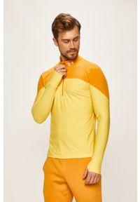 Żółta bluza nierozpinana Under Armour krótka, bez kaptura