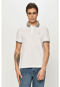 Biała koszulka polo Trussardi Jeans na co dzień, krótka, polo