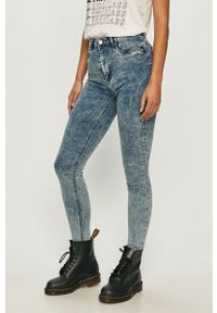 Niebieskie jeansy TALLY WEIJL z podwyższonym stanem