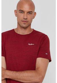 Pepe Jeans - T-shirt Paul 4. Kolor: czerwony. Materiał: dzianina