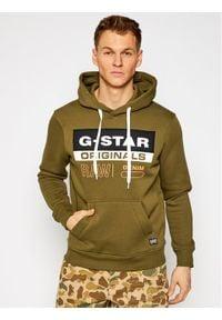 G-Star RAW - G-Star Raw Bluza Ashor D18239-A971-1866 Zielony Regular Fit. Kolor: zielony