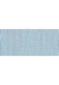 Niebieska koszula TOP SECRET z krótkim rękawem, klasyczna, z klasycznym kołnierzykiem, w paski