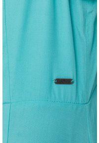 Pepe Jeans - Sukienka Samy. Kolor: turkusowy. Materiał: tkanina. Długość rękawa: na ramiączkach. Wzór: gładki. Typ sukienki: rozkloszowane