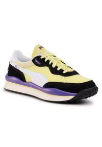 Żółte sneakersy Puma na co dzień, z cholewką
