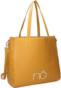Shopper damski żółty Nobo NBAG-K3950-C002. Kolor: żółty. Wzór: gładki. Materiał: skórzane