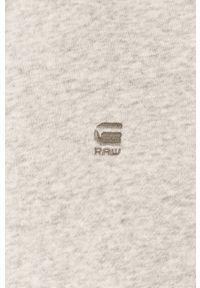 Szara bluza nierozpinana G-Star RAW casualowa, na co dzień, z kapturem