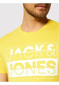 Jack & Jones - Jack&Jones T-Shirt Eddie 12172205 Żółty Slim Fit. Kolor: żółty