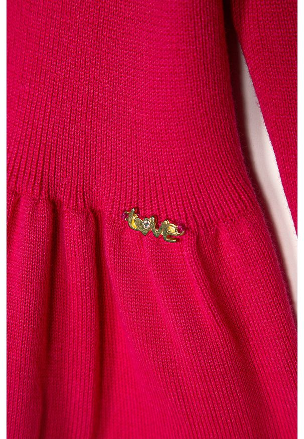 Różowy sweter Blukids casualowy, na co dzień