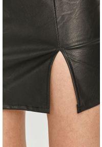 Czarna spódnica Answear Lab z podwyższonym stanem, wakacyjna, na co dzień