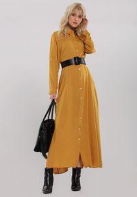Żółta sukienka koszulowa Renee