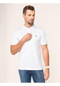 Lacoste Polo DH2050 Biały Regular Fit. Typ kołnierza: polo. Kolor: biały