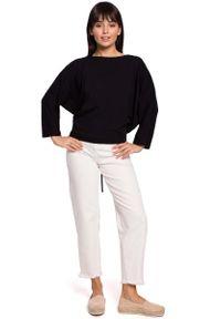 Czarna bluzka z długim rękawem MOE z dekoltem na plecach