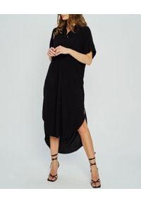MARLU - Czarna sukienka Bahia. Okazja: na co dzień, na imprezę. Kolor: czarny. Materiał: bawełna. Typ sukienki: koszulowe. Styl: wizytowy, elegancki, casual