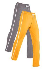 Żółte spodnie bonprix sportowe, długie