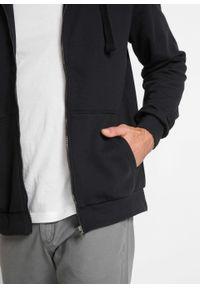 Czarna bluza bonprix z kapturem, na co dzień, casualowa