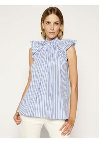 Niebieska bluzka Victoria Victoria Beckham