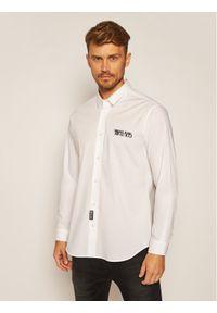 Biała koszula biznesowa Versace Jeans Couture