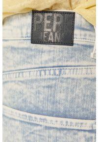 Niebieskie szorty Pepe Jeans gładkie, na co dzień