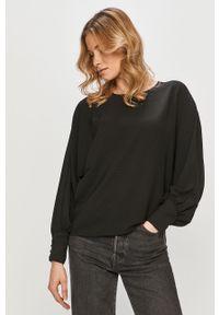 Czarna bluzka Vila casualowa, gładkie