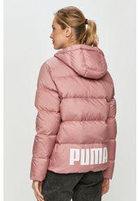 Różowa kurtka Puma z kapturem, na co dzień, casualowa