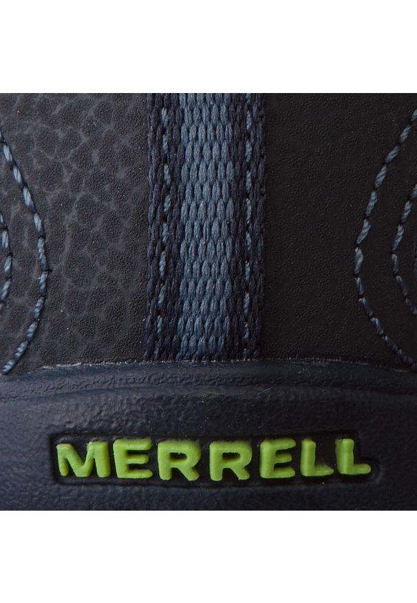 Niebieskie sandały Merrell na rzepy, młodzieżowe