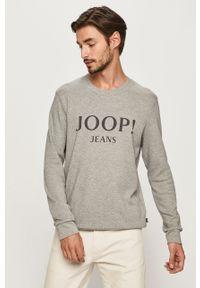 Szara bluza nierozpinana JOOP! bez kaptura, z nadrukiem