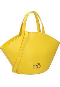 Basket bag żółty Nobo NBAG-K4230-C002. Kolor: żółty. Materiał: skórzane