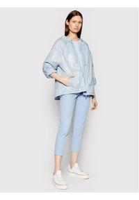 Marella Kurtka puchowa Carello 34810115 Niebieski Regular Fit. Kolor: niebieski. Materiał: puch
