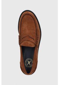 vagabond - Vagabond - Mokasyny skórzane Justin. Nosek buta: okrągły. Kolor: brązowy. Materiał: skóra #3