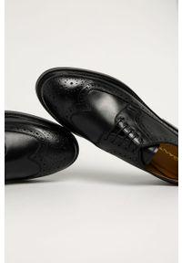 Czarne półbuty GANT na sznurówki, eleganckie