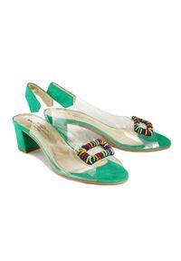 Zielone sandały Brenda Zaro