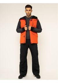 Quiksilver Kurtka snowboardowa Mission EQYTJ03221 Pomarańczowy Modern Fit. Kolor: pomarańczowy. Sport: snowboard