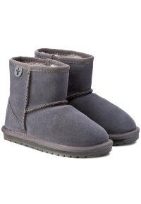 Szare buty zimowe EMU Australia z cholewką