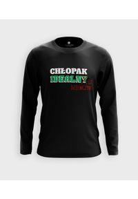 MegaKoszulki - Koszulka męska z dł. rękawem Chłopak Idealnej Dziewczyny. Materiał: bawełna