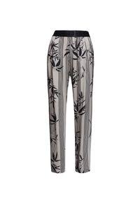 Beżowe spodnie Deha z nadrukiem, na lato