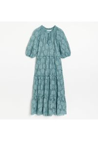 Niebieska sukienka Reserved maxi