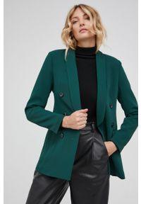Answear Lab - Marynarka. Okazja: na co dzień. Kolor: zielony. Materiał: tkanina, poliester. Styl: wakacyjny