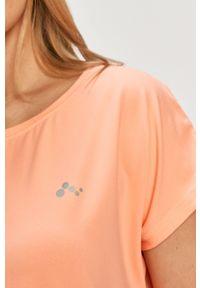 Only Play - T-shirt. Okazja: na co dzień. Kolor: pomarańczowy. Materiał: elastan, dzianina, poliester. Wzór: gładki. Styl: casual #4