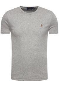 Polo Ralph Lauren T-Shirt 710740727012 Szary Slim Fit. Typ kołnierza: polo. Kolor: szary