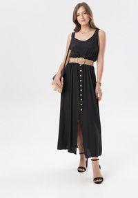 Born2be - Czarna Sukienka Cherinoe. Kolor: czarny. Długość rękawa: na ramiączkach. Długość: maxi