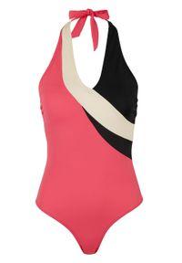 Różowy strój kąpielowy jednoczęściowy bonprix z wyjmowanymi miseczkami