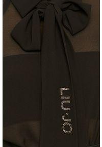 Czarna koszula Liu Jo z klasycznym kołnierzykiem, raglanowy rękaw, długa, elegancka