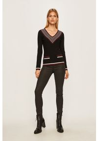 Czarny sweter Morgan na co dzień, casualowy