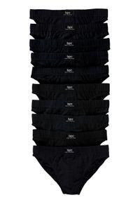 Slipy (10 par) bonprix czarny. Kolor: czarny