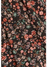 Czarna bluzka Haily's w kwiaty, na co dzień, casualowa