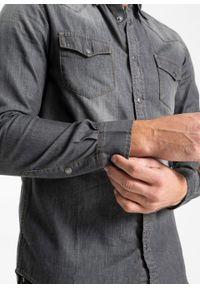 Szara koszula bonprix długa, z długim rękawem