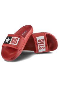 Big-Star - Klapki BIG STAR DD374153 Czerwony. Okazja: do domu. Kolor: czerwony. Wzór: aplikacja. Sezon: lato. Styl: wakacyjny, klasyczny