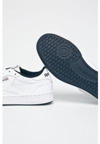 Białe sneakersy Reebok Classic Reebok Classic, na sznurówki, z cholewką